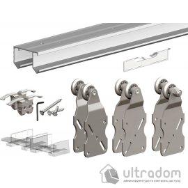 Комплект подвесной раздвижной системы для шкафа-купе Valcomp HORUS HR24 для 3-х дверей до 45 кг (212-016) image