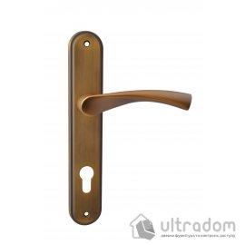 Дверная ручка на планке под ключ (85-62 мм) SIBA Genoa, матовое кофе image