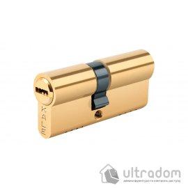 Цилиндр дверной KALE 164 OBS B ключ-ключ 85 мм латунь image