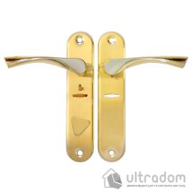 Ручка на планке BORDER D-42/01-1 G-L цвет «золото» ( к замкам  ЗВ9-6ЛК; Эльбор 1.06.40;) image