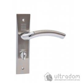 Ручка межкомнатная WC на планке (62 мм) SIBA Bari, мат.никель-хром image