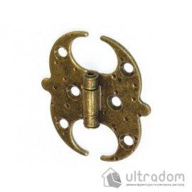 Декоративная накладная кованая петля Amig m.553 бронза image