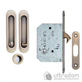 Ручки - ракушки для раздвижных дверей SIBA с механизмом WC, античная бронза (S223 AB) image
