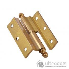 Угловые латунные дверные петли, Sofuoglu 50 мм., цвет - латунь image