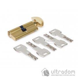 Цилиндр AGB SCUDO 5000 PS 90 мм (30/60Т) ключ/тумблер латунь (СА2001.55.25) image