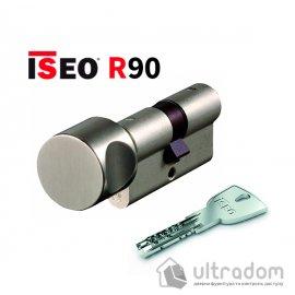 Цилиндр дверной ISEO R90 кл-вороток, матовый хром 70 мм image