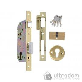 Дверной замок AMIG mod. 340 с цилиндром, цвет - латунь image