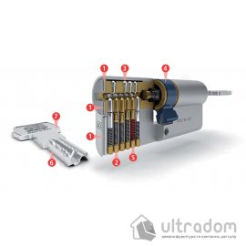 Цилиндр дверной AGB SCUDO 5000 PS ключ-ключ 75 мм image