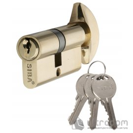 Цилиндр дверной SIBA английский ключ-вороток 90 мм image