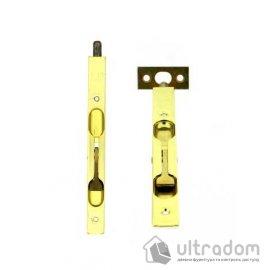 Дверной торцевой шпингалет AGB 160 мм, перекидной, цвет - латунь image