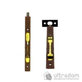 Дверной торцевой шпингалет AGB 160 мм, перекидной, цвет - коричневая бронза image