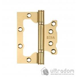 Петли дверные накладные SIBA 100 мм, цвет - полированная латунь image