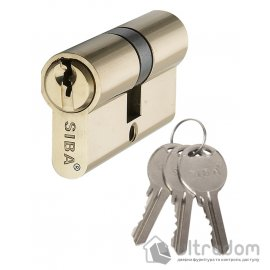 Цилиндр дверной SIBA английский ключ-ключ 70 мм image