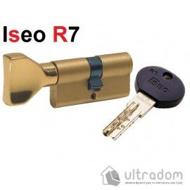 Цилиндр дверной ISEO R7 ключ - вороток, 75 мм image