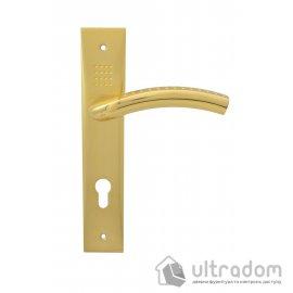 Дверная ручка на планке под ключ (85-62 мм) SIBA Bari мат.латунь-латунь image