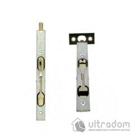 Дверной торцевой шпингалет AGB 160 мм, перекидной, цвет - матовый хром image