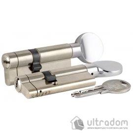 Цилиндр дверной KALE 164 KTB ключ-вороток 90 мм никель image