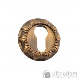 Накладки под евроцилиндр (YALE) SIBA R05, фигурная бронза image