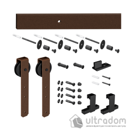 """Комплект раздвижной системы Mantion THOR в стиле LOFT, цвет - """"под ржавчину""""(219-360 SET) image"""