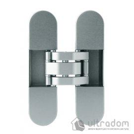 Скрытая дверная 3D петля OTLAV Invisacta IN300 30х120 мм матовый хром image