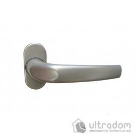 IMAT Falcon Ручка дверная на овальной розетке, серебристая image