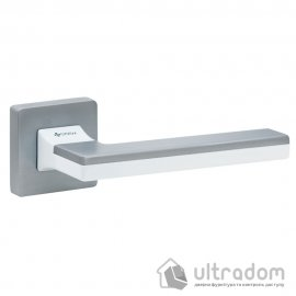 Дверная ручка SYSTEM HANDLE LARISSA матовый хром/белый/матовый хром image
