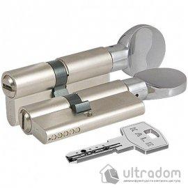 Цилиндр дверной KALE 164  SM ключ-вороток 90 мм никель image