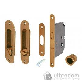 Ручки-ракушки Hafele с замком WC для раздвижных дверей, бронза коричневая image