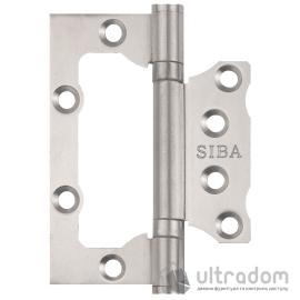 """Петля дверная SIBA 100 мм универсальная накладная, нержавеющая сталь (2BB 4""""х3""""х2,35mm FHP SS) image"""