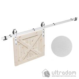 Комплект фурнитуры раздвижной системы Mantion THOR в стиле LOFT, матовый белый image