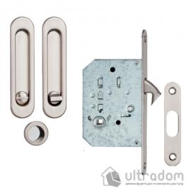 Ручки - ракушки для раздвижных дверей SIBA с механизмом WC,  матовый никель (S223 SN) image