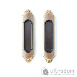 Ручки - ракушки для раздвижных дверей Mandelli 1028, мат.бронза image