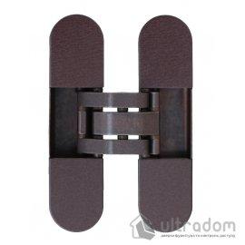 Скрытая 3D петля OTLAV  Invisacta IN300 120х30мм,  бронза коричневая с колпачками (IN300120BO02) image