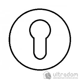 TUPAI накладка для евроцилиндра PZ круглая на тонкой розетке мод. 4046 5S image