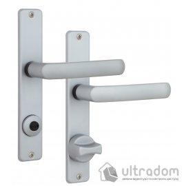 Дверная ручка ROSTEX 804    WC ручка-ручка 72мм хром сатин image