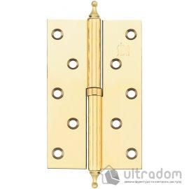 Дверные петли стальные SIBA 125 мм, цвет - полированная латунь  image