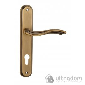 Дверная ручка на планке под ключ (85-62 мм) SIBA Imperia, матовое кофе image