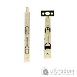 Дверной торцевой шпингалет AGB 160 мм, перекидной, цвет - никель image