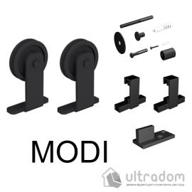 Комплект фурнитуры раздвижной системы Mantion MODI  в стиле LOFT, матовая чёрная image