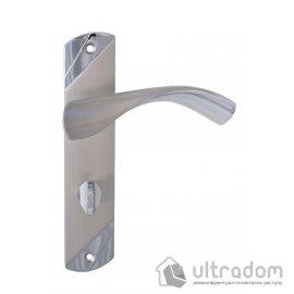 Ручка межкомнатная WC на планке SIBA Siena, цвет - мат.никель-хром image
