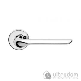 Дверная ручка DND by Martinelli  CHOP на круглой розетке VIS хром image