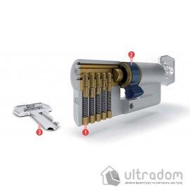 Цилиндр дверной с простым ключом AGB SCUDO 600 ключ-ключ 80 мм image
