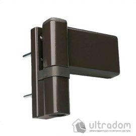 Дверная петля DHV 3D для ПВХ двери коричневая image