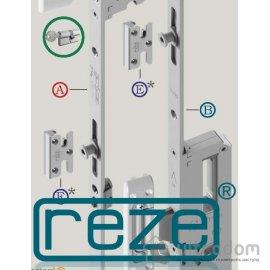 Многозапорный замок-рейка REZE 1800 мм (стандарт - 85 мм) с доп.ригелем image