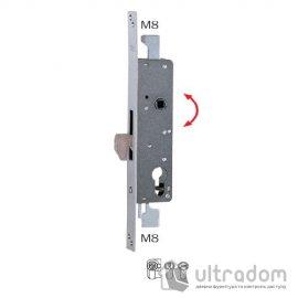Замок для профильных дверей ISEO 7834 с ригелем, крюком и тягами image
