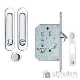 Ручки - ракушки для раздвижных дверей SIBA с механизмом WC, полированный хром (S223 CP) image