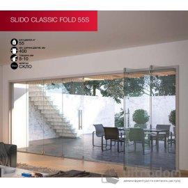 HAFELE раздвижная система для стеклянной двери-книжки Slido Classic FOLD 55S image