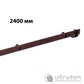 """Направляющая рельса 2400 мм Mantion ROC Design в стиле LOFT, коричневая бронза """"под ржавчину"""" image"""