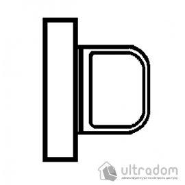 TUPAI вороток сантехнический WC квадратный на тонкой розетке мод. 4040 5SQ image
