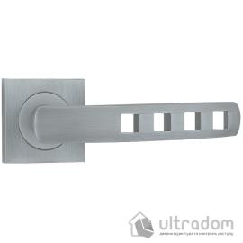 Ручка дверная на розетке SIBA Kubika, матовый хром image